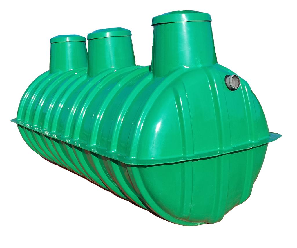 Plastový trojkomorový septik