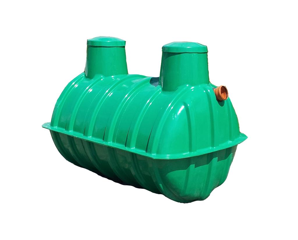 Dvojkomorový plastový septik